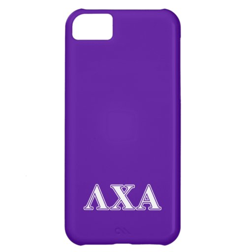 Lambda Chi Alpha White and Purple Letters iPhone 5C Cover