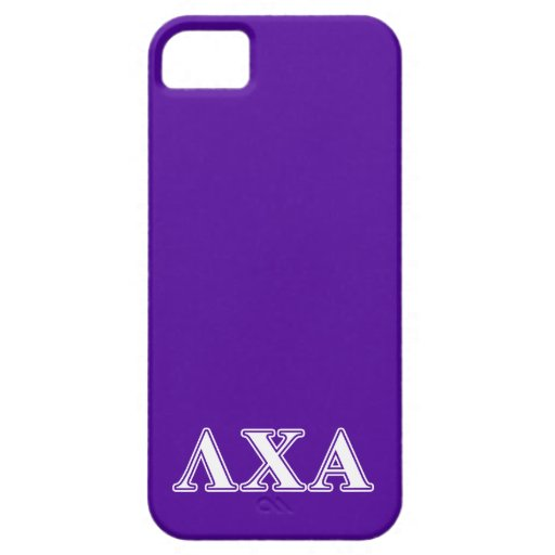 Lambda Chi Alpha White and Purple Letters Cover For iPhone 5/5S