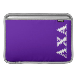 Lambda Chi Alpha White and Purple Letters MacBook Sleeve