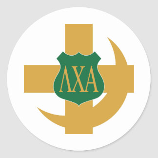 Lambda Chi Friendship Pin Classic Round Sticker