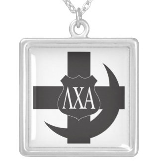 Lambda Chi Friendship Pin Silver Plated Necklace