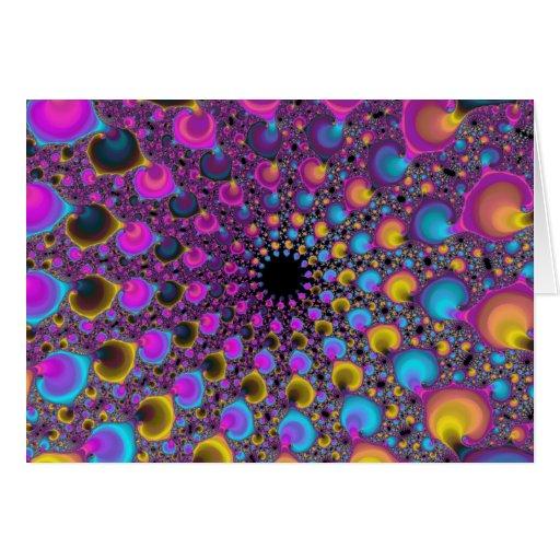 Lambda Fractal Spiral Greeting Cards