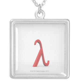 Lambda Silver Plated Necklace