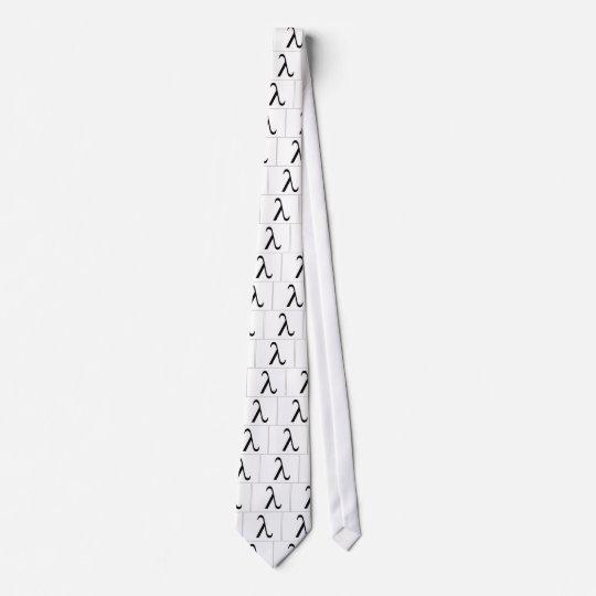 Lambda Symbol (white) Tie
