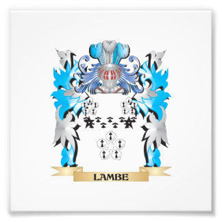 Lambe Coat of Arms - Family Crest Art Photo