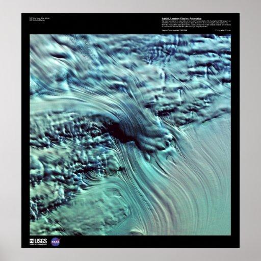 Lambert Glacier Antartica Poster