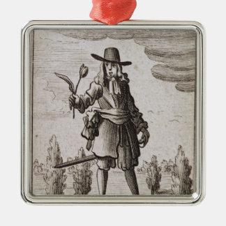 Lambert Simnel, Knight of the Golden Tulip Silver-Colored Square Decoration