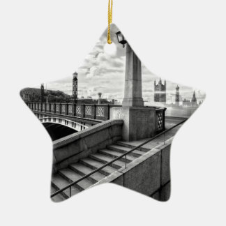 Lambeth Bridge Thames London Christmas Ornament