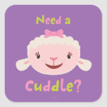 Lambie - Need a Cuddle Square Stickers