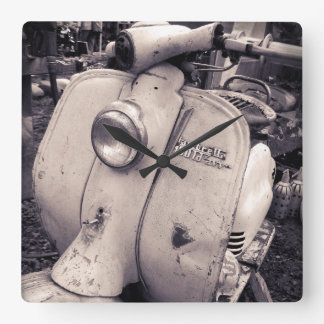 Lambretta 150 ld square wall clock