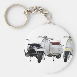 lambretta basic round button key ring