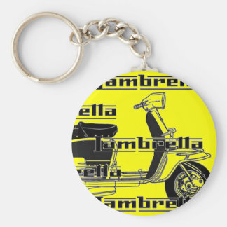 lambretta basic round button key ring