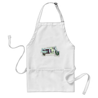 lambretta photo montage adult apron