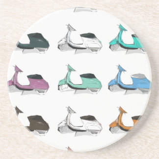 Lambretta Pop Art Beverage Coasters