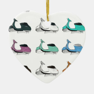 Lambretta Pop Art Christmas Ornament