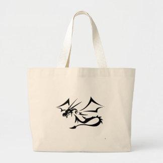 Lambton the Black Dragon Large Tote Bag