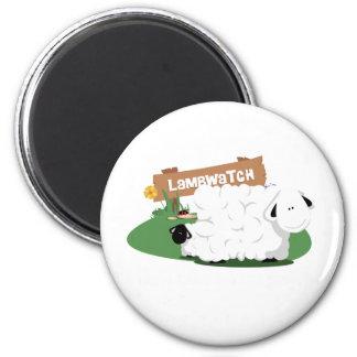 LambWatch! 6 Cm Round Magnet