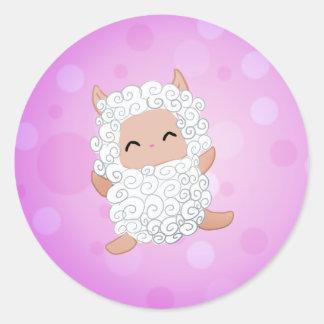 Lamby Round Sticker