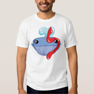 Lamed Hebrew Aleph Bet (Alphabet) Whale T-Shirt