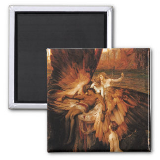 Lament for Icarus by Herbert Draper Square Magnet