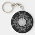 Lament star silver key ring