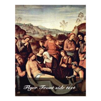 Lamentation By Perugino Pietro (Best Quality) 21.5 Cm X 28 Cm Flyer