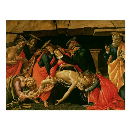 Lamentation of Christ. c.1490 Postcard