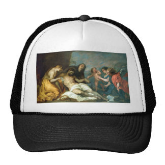 Lamentation over the Dead Christ Anthony van Dyck Mesh Hats
