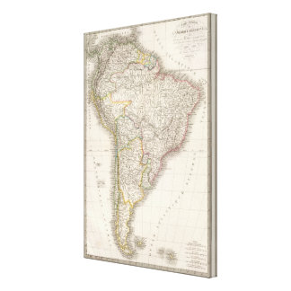 L'Amerique Meridionale - South America Canvas Print