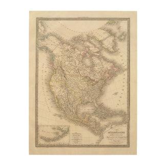 L'Amerique Septentrionale - North America Wood Print