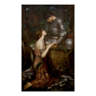 Lamia and the Soldier by JW Waterhouse Poster