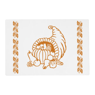 Laminate Placemat - Horn of Plenty Laminated Placemat