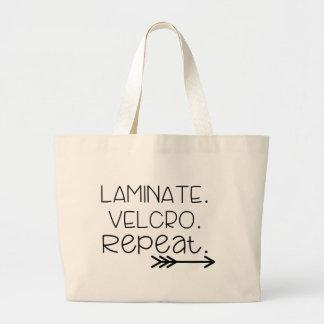 Laminate. Velcro. Repeat. Tote Jumbo Tote Bag
