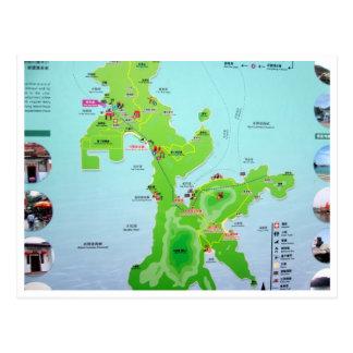 lamma island map postcard