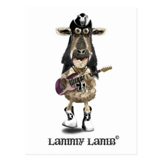 Lammy Lamb a Heavy Metal rock SHEEP Postcard