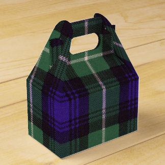 Lamont clan Plaid Scottish tartan Favour Boxes