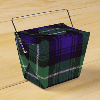 Lamont clan Plaid Scottish tartan Wedding Favour Boxes