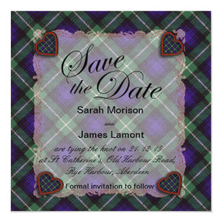 Lamont Scottish clan tartan - Plaid 13 Cm X 13 Cm Square Invitation Card