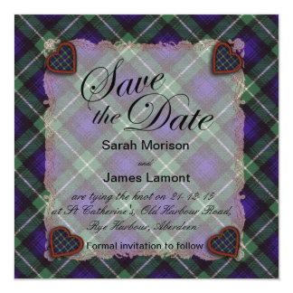 Lamont Scottish clan tartan - Plaid 13 Cm X 13 Cm Square Invitation Card
