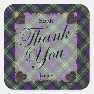 Lamont Scottish clan tartan - Plaid Square Sticker