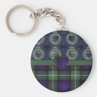 Lamont Scottish tartan Basic Round Button Key Ring