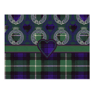 Lamont Scottish Tartan Postcard