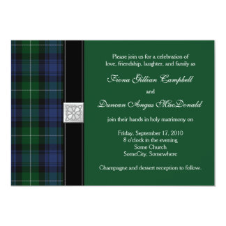 Lamont Tartan Celtic Wedding Invitation