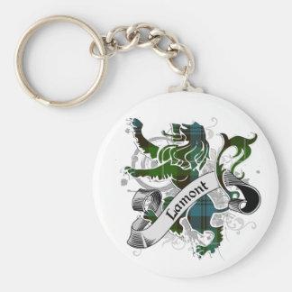 Lamont Tartan Lion Basic Round Button Key Ring