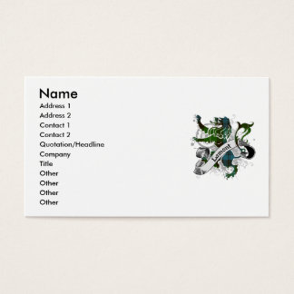 Lamont Tartan Lion Business Card