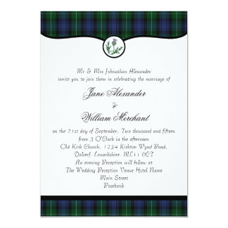 Lamont Tartan Plaid & Thistle Wedding Invitations