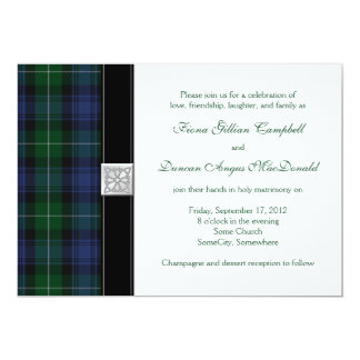 Lamont Tartan Scottish Celtic Wedding Invitation