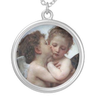 L'Amour et Psyché, Enfants – William Bouguereau Round Pendant Necklace