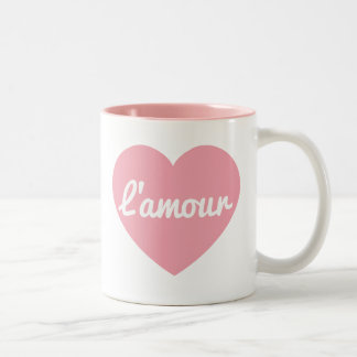 L'amour signed mug! Two-Tone coffee mug