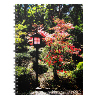 Lamp and Flower Spiral Notebook